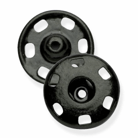 15mm Black Metal Snap Fasteners
