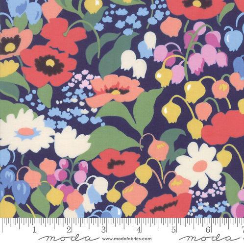 Moda Regent Street Blue 'English Garden' Lawn 100% Cotton Fabric
