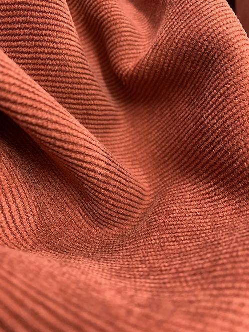 Burnt Orange Terracotta Soft Cord Fabric