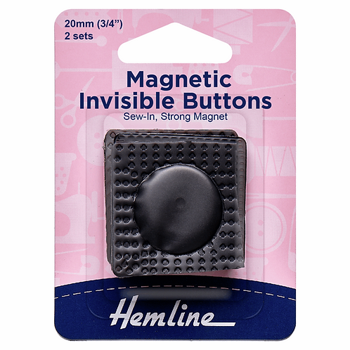 Magnetic Invisible Buttons: 2 Pieces: Black