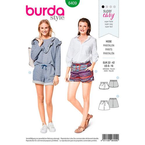 6409 Burda Pattern Sports Joggers & Shorts