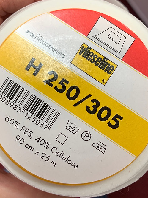 H250 White Iron on Fusible Interfacing Medium