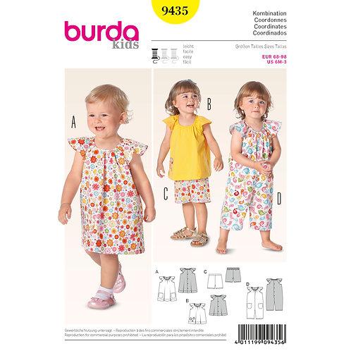 9435 Toddler Dress/Dungarees Burda Pattern
