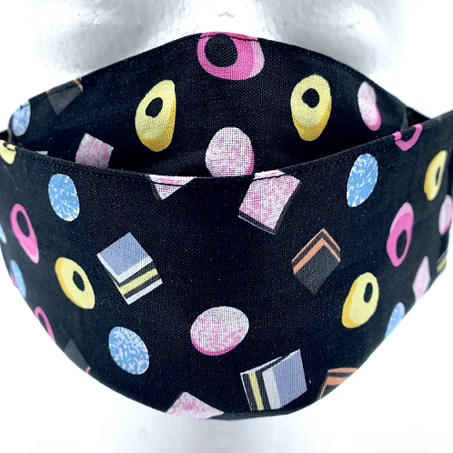 Face Mask Covering Liquorice Sweet print