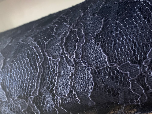 Corded Navy Lace Fabric