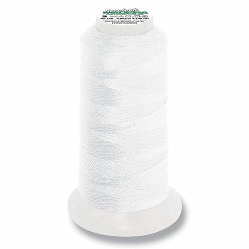 WHITE Overlocker Thread Kingspool 2,500m