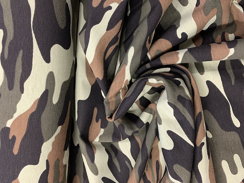 Camouflage Combat Jersey Stretch Fabric