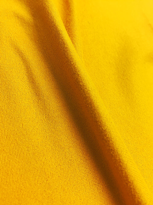Brushed Mustard Jersey Stretch Fabric