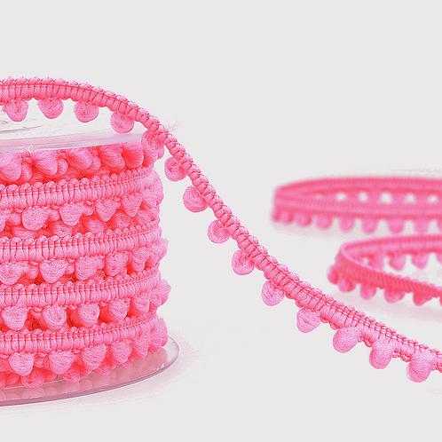 6mm Neon Pink Mini PomPom Trim