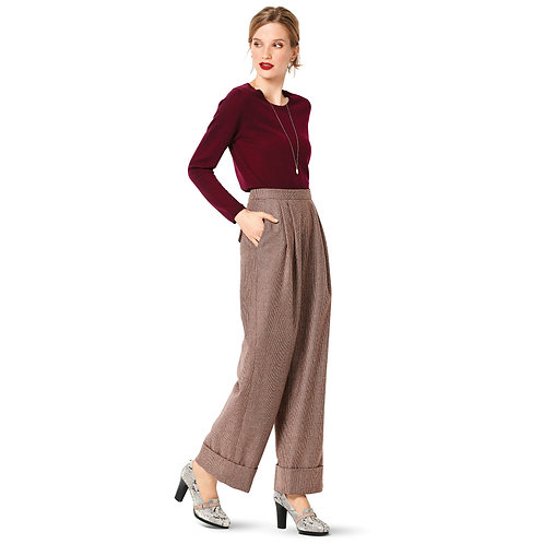 Burda Style Pattern 6286 Pants Wide Legged, Full Length or Cropped