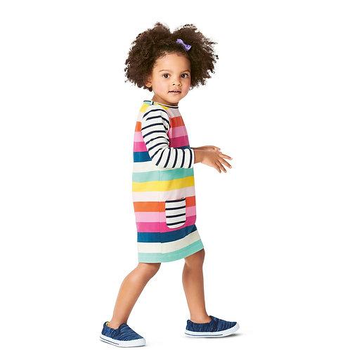 9296 Babies Pull-On Dress Burda Pattern