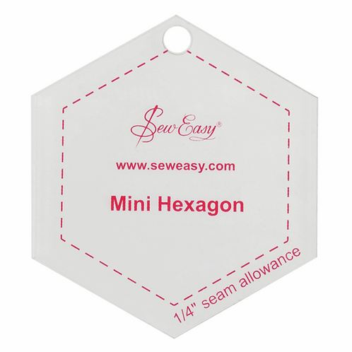 "Template: Mini Hexagon: 2.87"" x 2.5"""