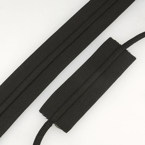 Waist Drawstring Elastic Black
