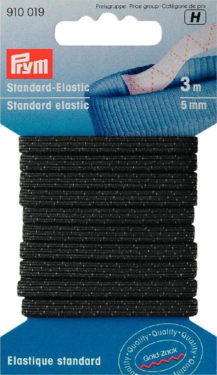5mm Black Prym Standard-Elastic, 3m pk