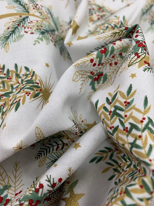 Shimmer & Sparkle 3 Wishes Pine Trees 100% Cotton Fabric