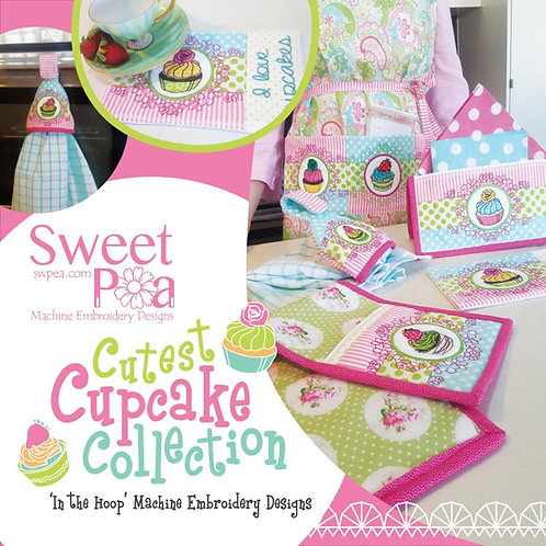 Sweet Pea Cutest Cupcake Collection ITH Embroidery CD