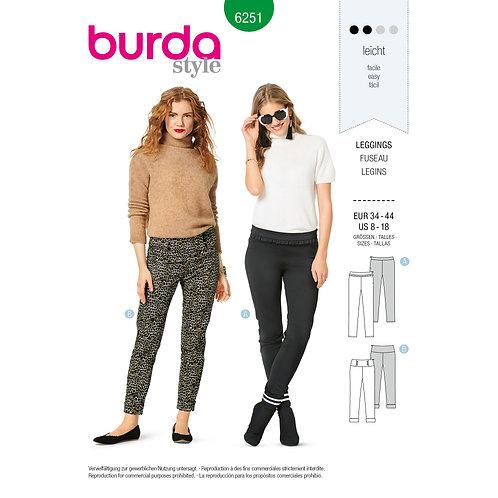 6251 Burda Pattern Misses' Legging Jegging