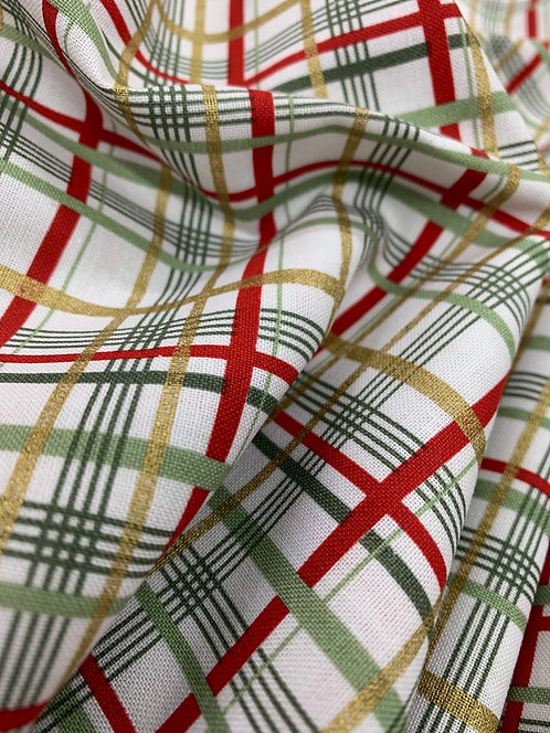 Shimmer & Sparkle 3 Wishes Plaid 100% Cotton Fabric