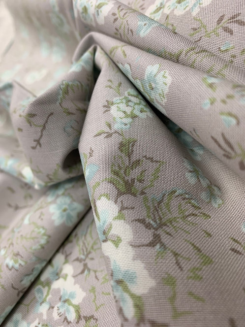 Dover Field Floral Grey 100% Cotton Fabric by Moda