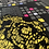 Thumbnail: AGF Grid Black Floral Cotton Fabric