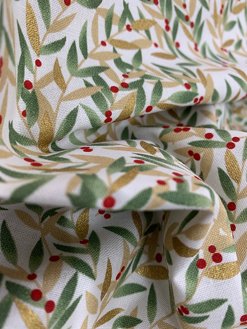 Shimmer & Sparkle 3 Wishes Foliage 100% Cotton Fabric