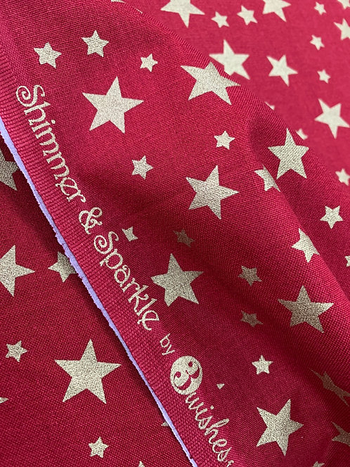 Shimmer & Sparkle 3 Wishes Stars 100% Cotton Fabric