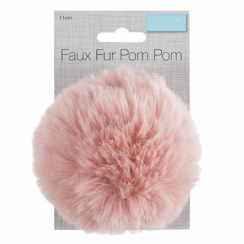 Faux Fur PomPom LIGHT PINK