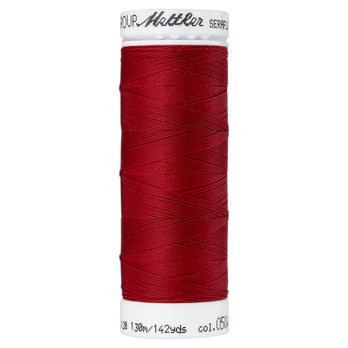 Seraflex Elastic Stretch Mettler Thread 130m COUNTRY BURGUNDY RED