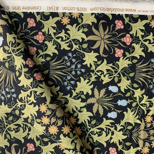 May Morris Celandine 100% Cotton Fabric