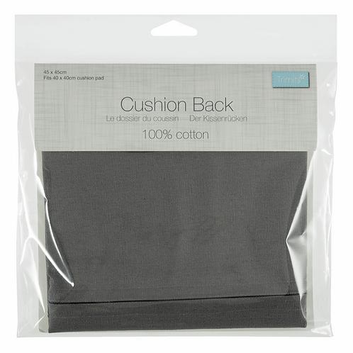 Cushion Back with Zipper Grey