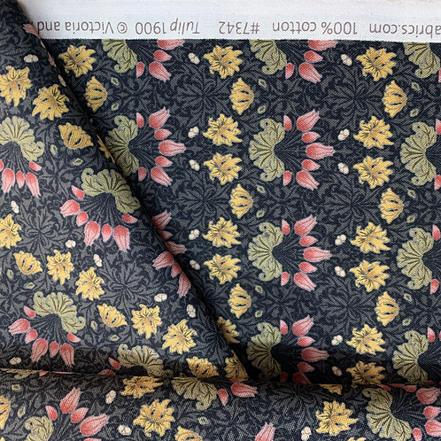 May Morris Tulip 100% Cotton Fabric