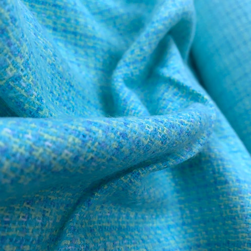 Blue Green Soft Brushed Cotton Flannel Yarn Dyed Fabric
