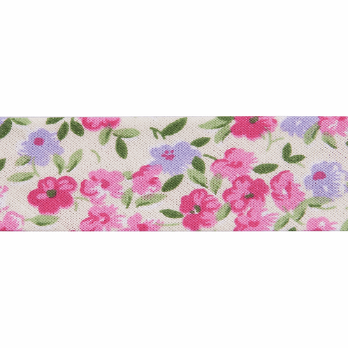 Floral 25mm Bias Binding