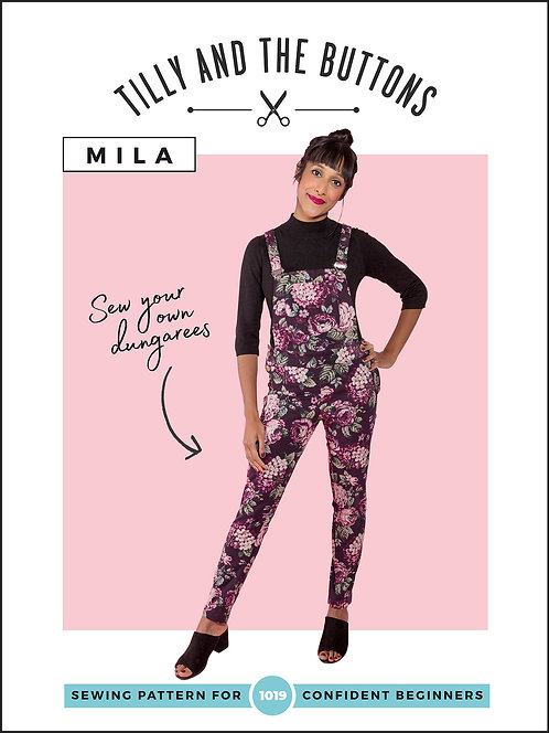 MILA Dungarees Tilly & The Buttons Pattern