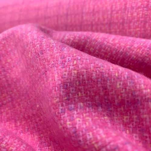 Pink Brushed Cotton Flannel Yarn Dyed Fabric