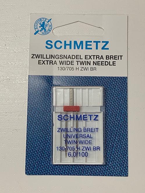 Schmetz Universal Twin EXTRA WIDE 6mm Sewing Machine Needles