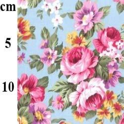 Large Floral 100% Cotton Poplin Fabric