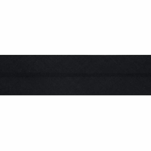 Black 25mm Bias Binding