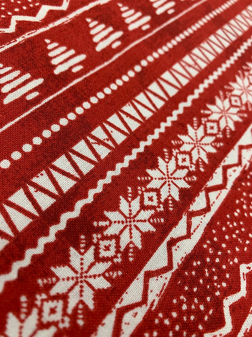 Jingle All the Way 3 Wishes nordic sweater 100% Cotton Fabric