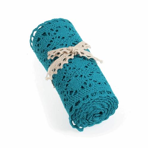 Blue Cotton Lace Trim Roll 150mm