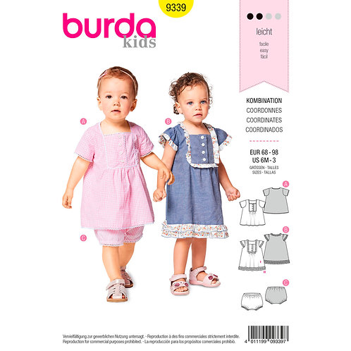 9339 Toddlers Dress and PantsBurda Pattern