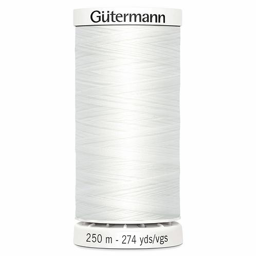 WHITE Sew All Thread 250m