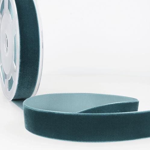 7mm Velvet Teal Ribbon by the metre