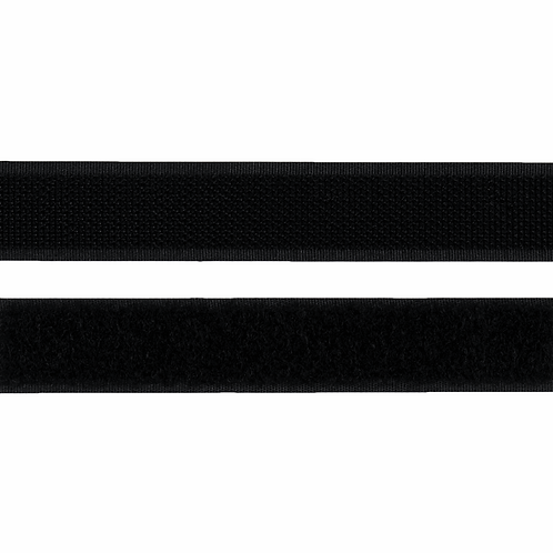 20mm Stick & Sew hook n loop Velcro Tape BLACK