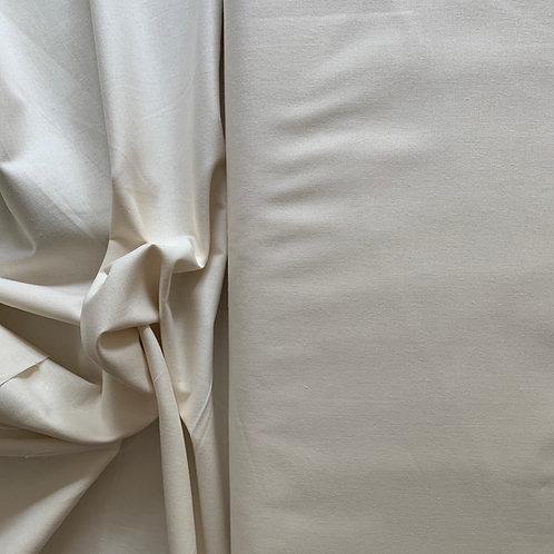 Cream 100% Plain Cotton Fabric