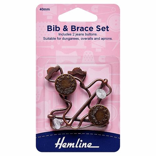 40mm Bib & Brace Dungaree Set Bronze