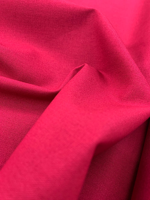 Crimson Red 100% Plain Cotton Fabric