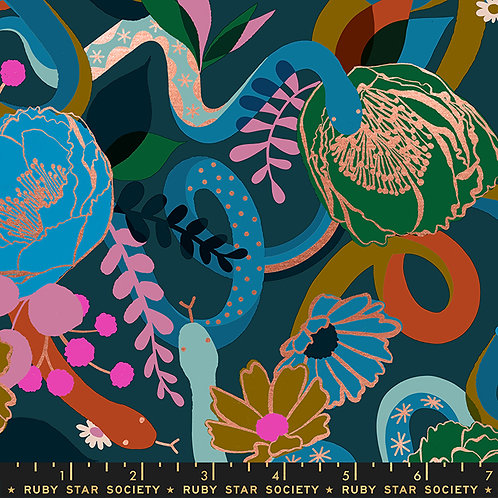 RSS Rise Dream Peacock Fabric by Melody Miller