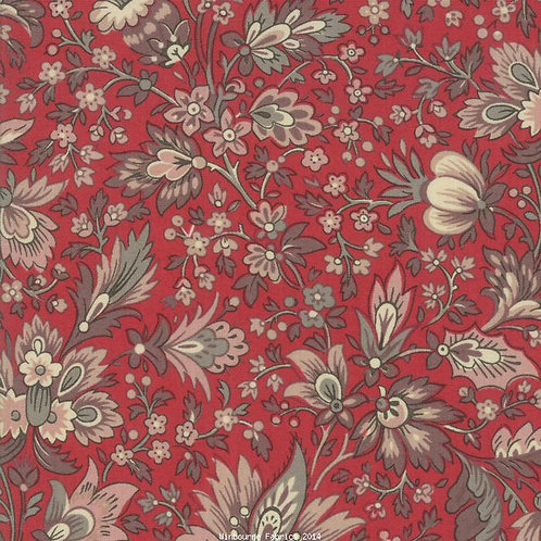 Chafarcani Red French General 100% Cotton Fabric by Moda