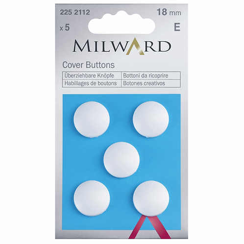 18mm Cover Buttons Plastic